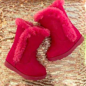 Cat & Jack size4 Fuchsia Katrina style tot Boots